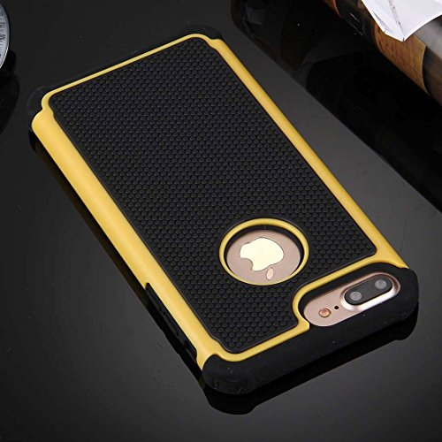 YAN Für iPhone 7 Plus Ball Texture Separate TPU + PC Schock-resistenten Kombination Fall ( Color : White ) Yellow