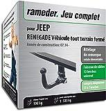 Rameder Attelage rotule démontable pour Jeep Renegade Véhicule Tout Terrain fermé...
