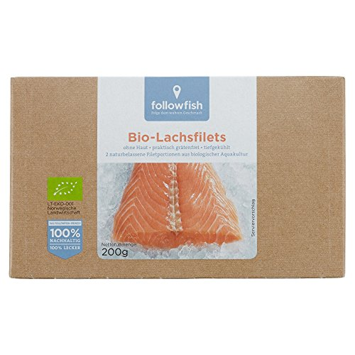 Preisvergleich Produktbild Followfish Bio-Lachsfilets,  200 g (Tiefgefroren)