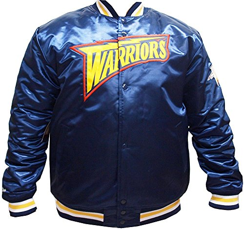 Mitchell & Ness Herren Jacken/College Jacke HWC Team Golden State Warriors Blau L