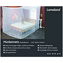 Lumaland Moskitonetz kastenförmig 220x200x210cm Indoor Outdoor Verschiedene Farben