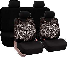 DIELIAN Universal Sitzbezug Für Auto Sitzbezüge Schonbezüge Autositzschoner, Öwe Einzigartige Print Styling