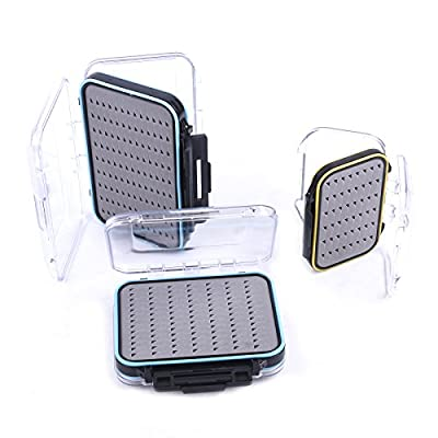 Maxcatch Waterproof Fly Box Double Clear Lid Fly Fishing Box Easy Grip Foam (small, medium, large) from Maxcatch