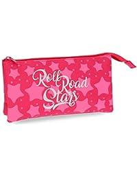 Roll Road Stars Neceser de Viaje, 22 cm, 1.32 Litros, Rosa