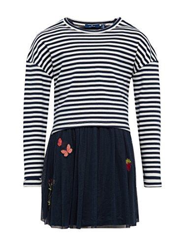 TOM TAILOR für Mädchen Kleider & Jumpsuits 2-in-1 Tüll-Kleid mit Sweatshirt Agate Stone Blue, 116/122
