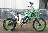 Dirtbike 125ccm Pitbike 4 Takt 4 Gang Manuell 17/14 Zoll Grün Weiß 125cc Motor Cross Bike