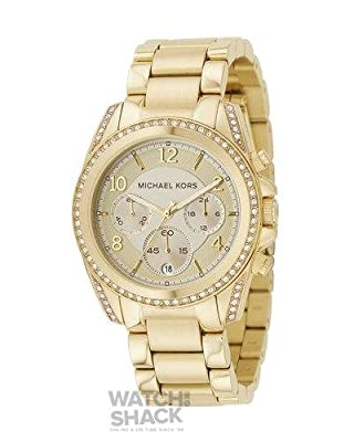 MK5166 Ladies Gold Plated Michael Kors Watch