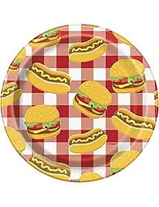 Unique Party 58704 - Juego de 8 platos de papel para verano, 18 cm