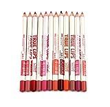 VWH 12 Farben Professionelle Lipliner Wasserdichte Lip Liner Lippenstift Lippenkonturenstift mit Deckel