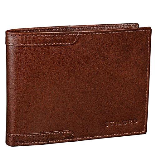 STILORD Vintage Leder Geldbörse für Herren Geldbeutel Portemonnaie EC-Karten Retro Rinds Leder cognac braun
