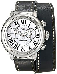 Glam Rock Bal Harbour Damen-Armbanduhr 40mm Armband Leder Schwarz Gehäuse Edelstahl Batterie GR77138