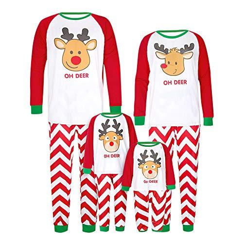 7db776a970f64 Milktea Ensembles de Pyjama Noel Famille Père Mère Garçon Fille Bébé Pyjamas  à Deux Pièces Set