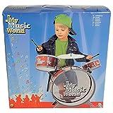 SIMBA My Music World Schlagzeug Kinderschlagzeug Musik Drums Hocker Becken Sticks Kinder NEU