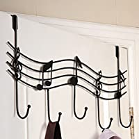 QHGstore Home Bathroom Kitchen Coat/Hat/Bag Metal Music Style Hook Hanger Organizer Iron