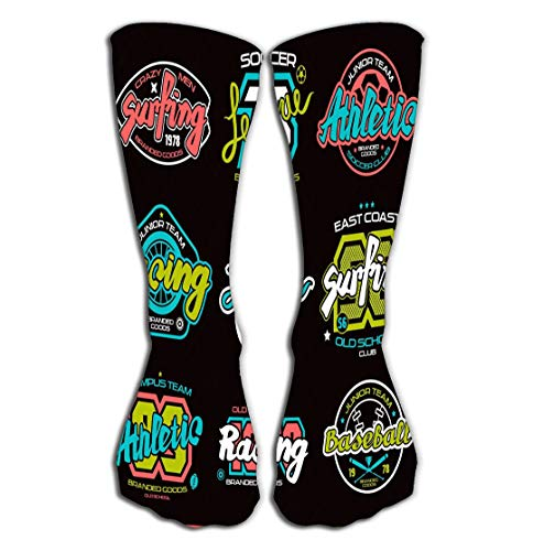 suzhoudoushioumiyafushi Hohe Socken Men's Women Girls Novelty Funny Crew Socks 19.7