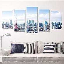 zoomingmingli Etiqueta de la Pared Hermosa con Vistas al Paisaje de la madrugada Ciudad Cartel Etiqueta