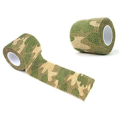 KEKEDA Cinta de Envoltura de Camuflaje, 1 Rollo de Cinta de Envoltura de Tela de Camuflaje autoadhesiva de Camuflaje de protección Militar para Exteriores (7#)