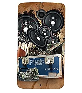 PRINTSHOPPII MUSIC Back Case Cover for Motorola Google Nexus 6::Google Nexus 6