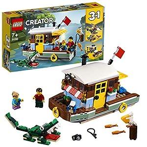 LEGO Creator - Casa Flotante del Río, juguete creativo de barco para construir (31093)