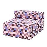 Brown Pixels Design Single Foam Fold Out Z Bed Chair Guest Mattress Sleepover