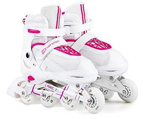Hop-Sport 3 in 1 Inliner Inlineskates Rollschuhe Quad Dreirad Roller Jugend Erwachsene Farbauswahl Größe: 34-41 (Pink L (38-41))