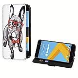 deinPhone HTC One A9 Kunstleder Flip Case Gentleman Bulldogge
