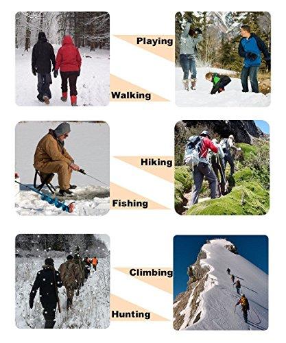 19 Dientes de Acero Inoxidable de Crampones Antideslizante Raquetas de Nieve,al Aire Libre de Esqui de Senderismo en… 6