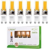 Liqoo® 6x G9 3W Mini Bombilla LED Lámpara COB Bajo Consumo Blanco Cálido 2800K Ra 83 AC 220V Ángulo de visión 360° 280 Lumen Ahorra 90% Energía