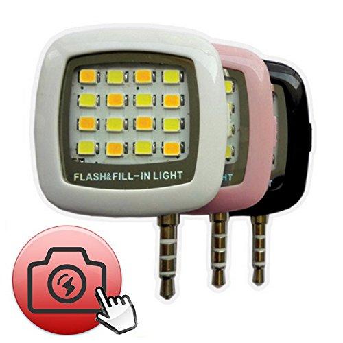 Lobzon Portable 16 LEDs Mini Flash à LED pour smartphone