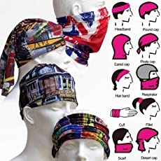 Rian's Online 1pc Multi functional Stylish Unisex Bandana (Mix colors And Mix prints)