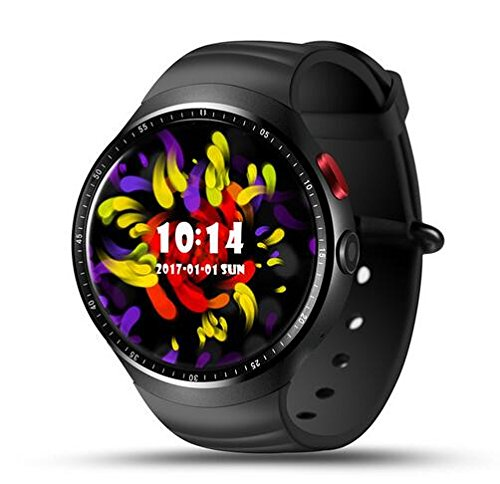 Hot Lemfo LES1 1 GB + 16 GB Android 5.1 Smartwatch indossabile dispositivi Bluetooth WiFi intelligente dell' orologio (nero)