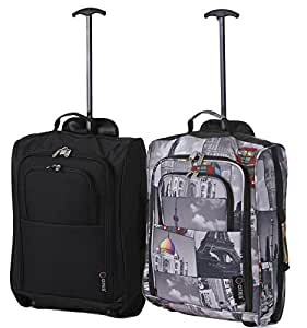 Set of 2 Super Lightweight Cabin Approved Luggage Travel Wheely Suitcase Wheeled Bags