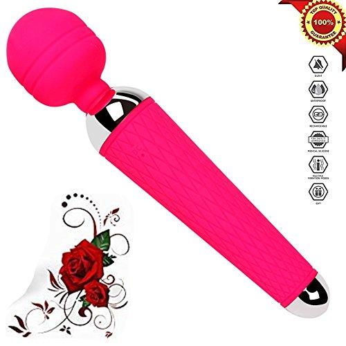 Preisvergleich Produktbild Beibika Körper-Massager-Wand-elektrischer drahtloser Vibrator-leistungsfähiger auflösender Muskel für Frauen,  red