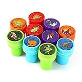 Zantec 10 PCs Assortis de Dinosaures Timbres Kids Party Favors Fournitures d'événement pour Anniversaire Fête Cadeau Jouets Garçon Fille Pinata Remplisseurs
