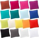 MOON-Trend 2er Pack Kissenbezug Kissenhülle Jersey 100% Baumwolle (40x40, weiß)