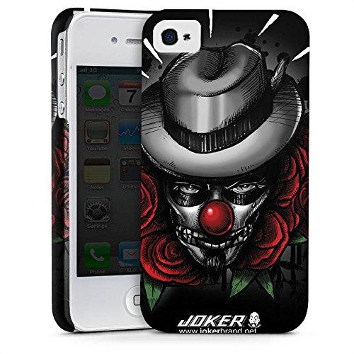 Apple iPhone X Silikon Hülle Case Schutzhülle Joker - The Joker Blumen Hut Premium Case glänzend