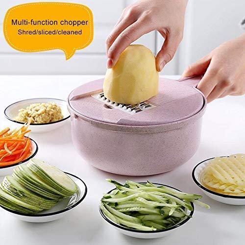 Honsin Multifunctional Vegetable Chopper Slicer Cheese Grater Shredder for Onion Potato Zucchini