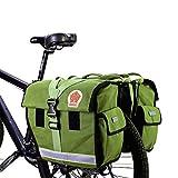 Alforja para bicicleta trasera Bolsa impermeable de transporte para bicicleta, color verde
