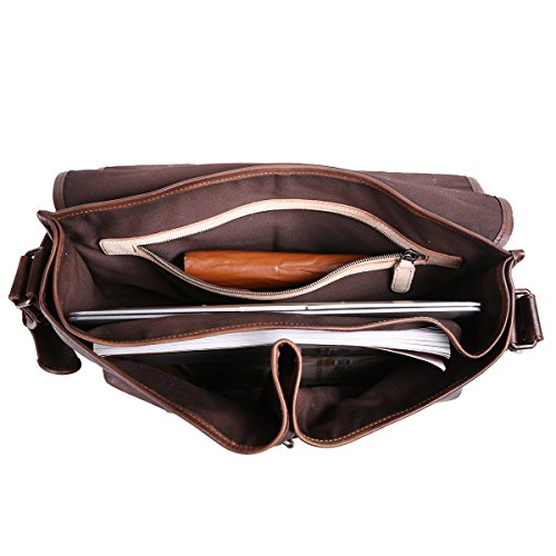Leathario sac en cuir, sac rétro en cuir, sac vintage, cartable en cuir pour hommes, cartable pour hommes, sacoche en cuir pour hommes, sac porte épaule pour hommes Café7