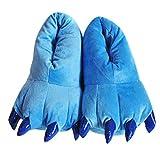 Happy Cherry - Zapatillas Garras Pequeña de Animal Niños Zapatos de Franela Suave Cómodo Para Disfraz Navidad Halloween Casa Talla EU 28-34 - Azul