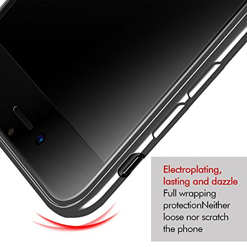 iPhone 8 Plus Hülle, iPhone 7 Plus Hülle, KKtick Schutzhülle Apple iPhone 8 Crystal Clear Bumper TPU [Ultra Slim] Silikonhülle Rutschfeste Kratzfeste Handyhülle für iPhone 8 Plus/iPhone 7 Plus Case Co Rot