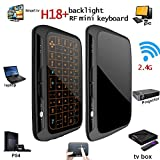 Wireless Tastatur,penkou H18 backlit 2.4GHz Full Touchpad Hintergrundbeleuchtung Mini-Tastatur mit großen Touchpad Fernbedienung für Smart TV Android TV Box PC Laptop