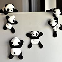 Gemini_mall® 1PC Cute Soft Plush Panda Fridge Magnet Refrigerator Sticker Gift Souvenir Decor Kids Toys