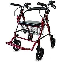 Mobiclinic Andador para Ancianos y Silla de Ruedas   2 en 1   Frenos en manetas