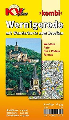 Wernigerode: Stadtplan mit Wanderkarte zum Brocken