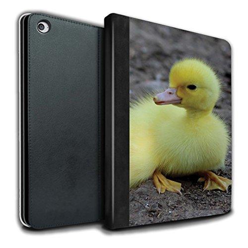 STUFF4 PU-Leder Hülle/Case/Brieftasche für Apple iPad Air 2 tablet / Entlein/Ente Muster / Niedlich Haustiere Kollektion (Ente Air)