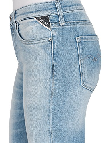 Replay Damen Skinny Jeans Joi Ankle Zip Blau (Light Blue 11)