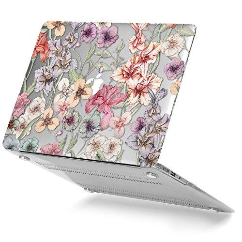 GMYLE MacBook Air 13 Hülle - Hochwertige Matt Gummierte Hartschale Tasche Schutzhülle Snap Case für Apple MacBook Air 13.3 Zoll (A1466 / A1369) , Floral Garten (Designs-snap Floral)