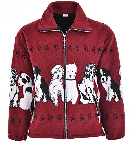 RG Clothing Men Women Animal Print Warm Thick Fleece Winter Shirt Jacket Coat S-2XL (Small, Grey Wolves)