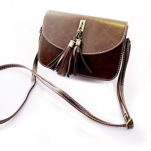 Millya da donna Borsa a tracolla Mini Retro nappa crossbody Borsetta per cellulari Dark Brown